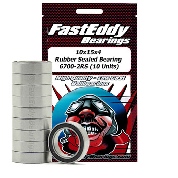 10x15x4 Rubber Sealed Bearing 6700-2RS (10 Units)