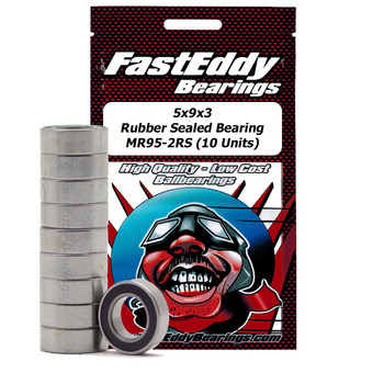 5x9x3 Rubber Sealed Bearing MR95-2RS (10 Units)