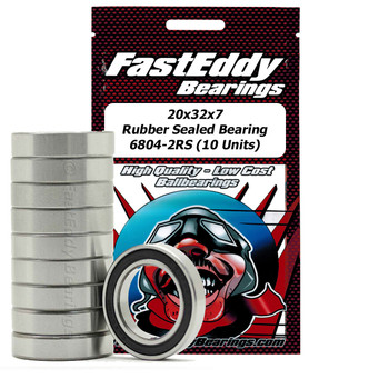 20x32x7 Rubber Sealed Bearing 6804-2RS (10 Units)