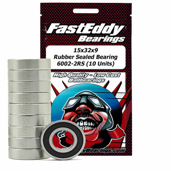 15x32x9 Rubber Sealed Bearing 6002-2RS (10 Units)