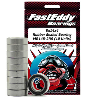8x14x4 Rubber Sealed Bearing MR148-2RS (10 Units)