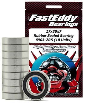 17x30x7 Rubber Sealed Bearing 6903-2RS (10 Units)