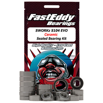 SWORKz S104 EVO Ceramic Sealed Bearing Kit