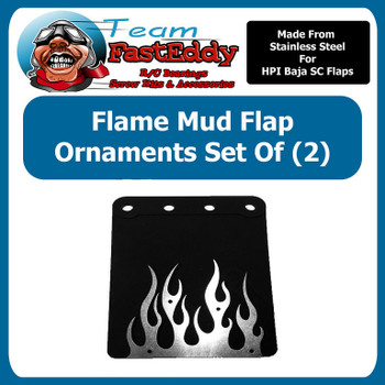 Mud Flap Ornament Baja Flames