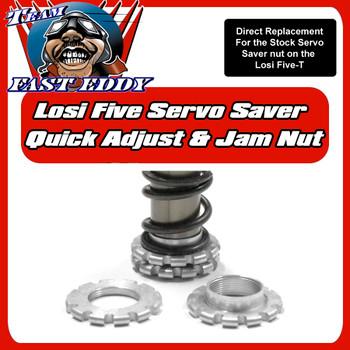 Quick Adjust Servo saver and jam Nuts. (Losi 5ive)