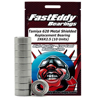 Tamiya 620 Metal Shielded Replacement Bearing 2X6X2.5 (10 Units)