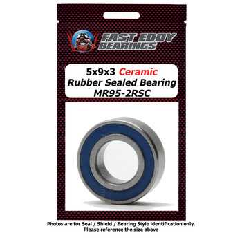 5x9x3 Ceramic Rubber Sealed Bearing MR95-2RSC