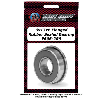 6x17x6 Flanged Rubber Sealed Bearing F606-2RS