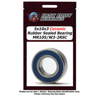 5X10X3 Ceramic Rubber Sealed Bearing MR105/W3-2RSC