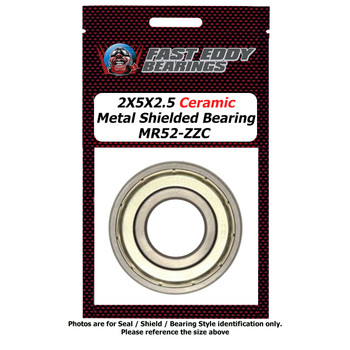 2X5X2.5 Ceramic Metal Shielded Bearing MR52-ZZC