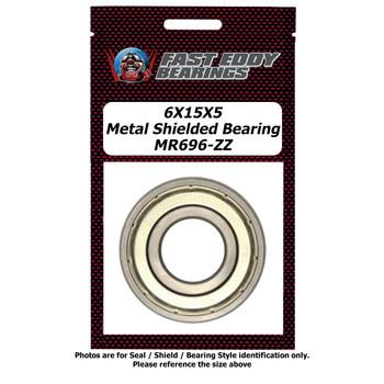 6X15X5 Metal Shielded Bearing MR696-ZZ