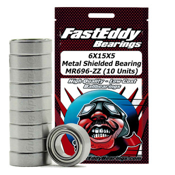 6X15X5 Metal Shielded Bearing MR696-ZZ (10 Units)