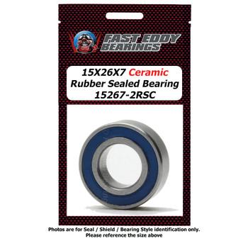15X26X7 Ceramic Rubber Sealed Bearing 15267-2RSC