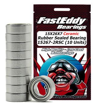 15X26X7 Ceramic Rubber Sealed Bearing 15267-2RSC (10 Units)