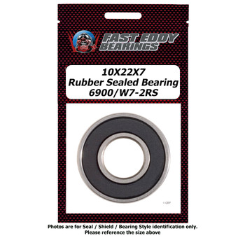 10X22X7 Rubber Sealed Bearing 6900/W7-2RS