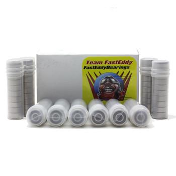8x14x4 Flanged Ceramic Rubber Sealed Bearing MF148-2RSC (100 Units)
