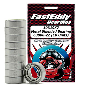 10X19X7 Metal Shielded Bearing 63800-ZZ (10 Units)