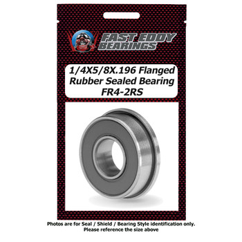 1/4X5/8X.196 Flanged Rubber Sealed Bearing FR4-2RS