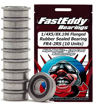1/4X5/8X.196 Flanged Rubber Sealed Bearing FR4-2RS (10 Units)