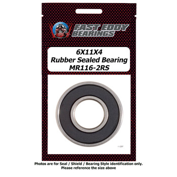 6X11X4 Rubber Sealed Bearing MR116-2RS