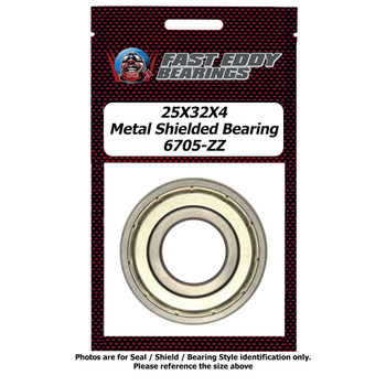 25X32X4 Metal Shielded Bearing 6705-ZZ