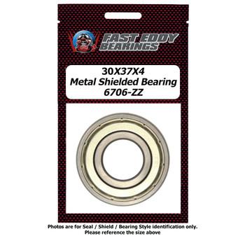 30X37X4 Metal Shielded Bearing 6706-ZZ