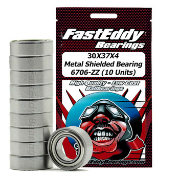 30X37X4 Metal Shielded Bearing 6706-ZZ (10 Units)
