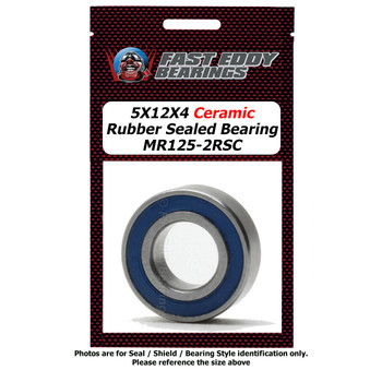 5X12X4 Ceramic Rubber Sealed Bearing MR125-2RSC