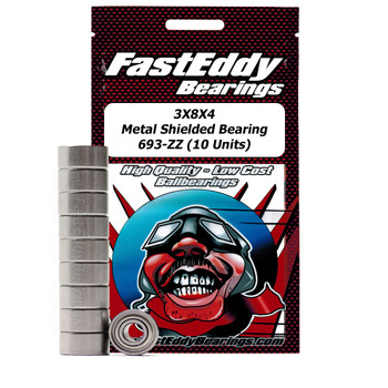 3X8X4 Metal Shielded Bearing 693-ZZ (10 Units)