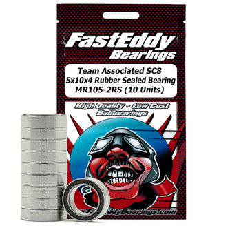 Team Associated SC8 5x10x4 Rubber Sealed Bearing MR105-2RS (10 Units)