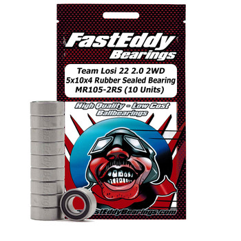 Team Losi 22 2.0 2WD 5x10x4 Sealed Bearing MR105-2RS (10 Units)