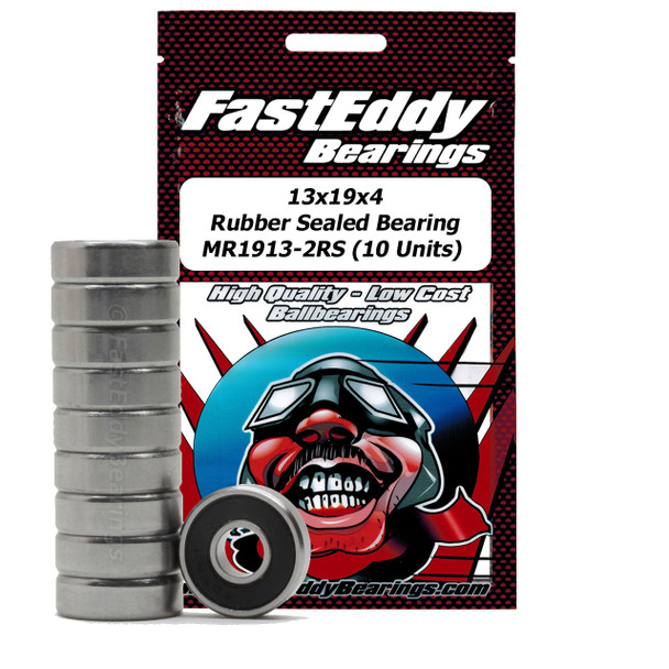 13x19x4 Rubber Sealed Bearing MR1913-2RS (10 Units)