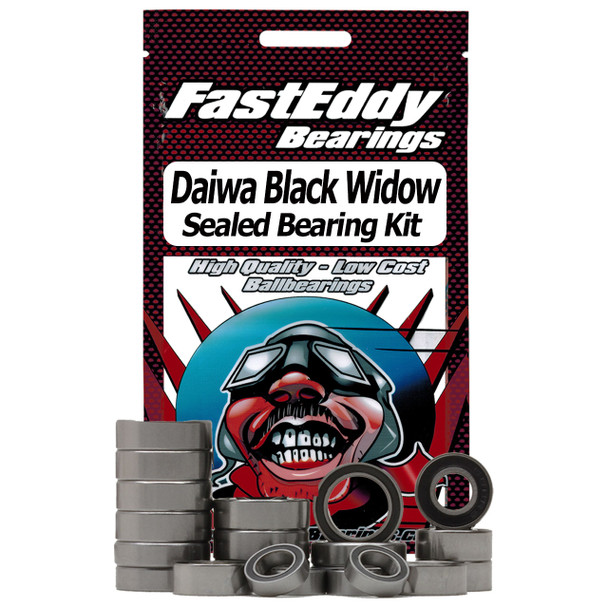Daiwa Black Widow Baitcaster Angelrolle Gummi Sealed Bearing Kit