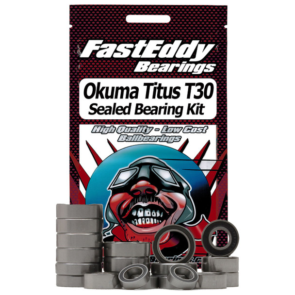 Okuma Titus T30 Single Speed Fishing Reel Rubber Sealed Bearing Kit (Gummilager)