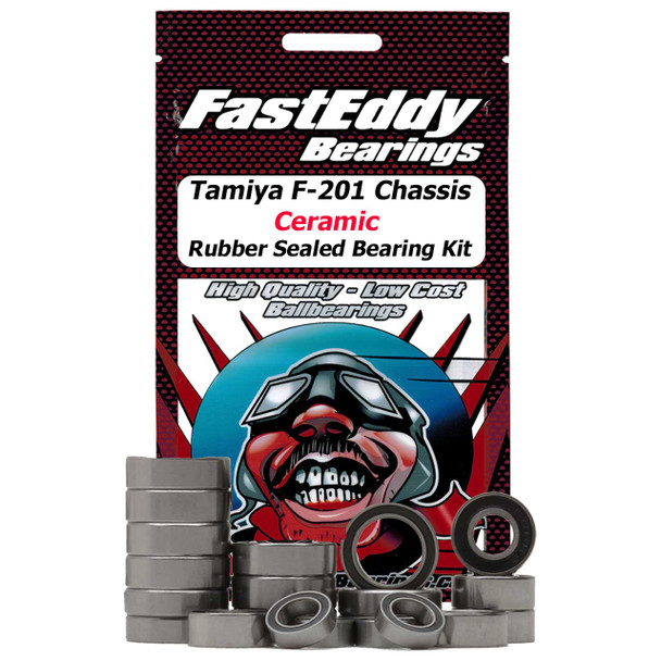 Tamiya F201 Chassis Keramik Gummi Sealed Bearing Kit