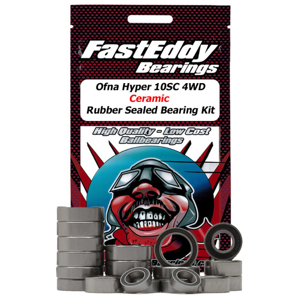 Ofna Hyper 10SC 4WD Ceramic Rubber Sealed Bearing Kit