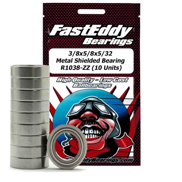 3/8x5/8x5/32 Metal Shielded Bearing R1038-ZZ