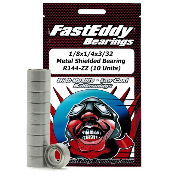 1/8x1/4x3/32 Metal Shielded Bearing R144-ZZ (10 Units)