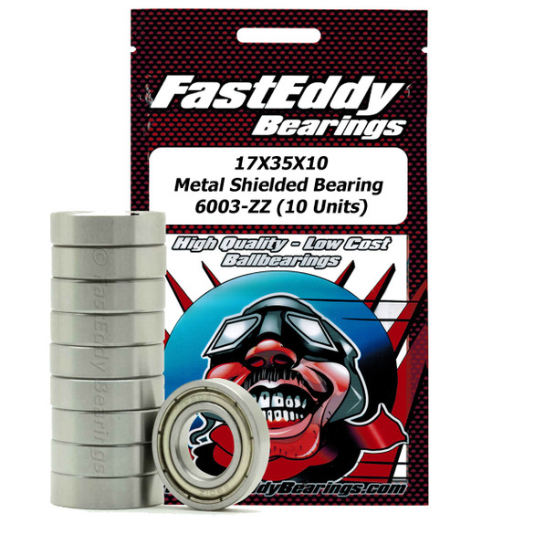17X35X10 Metal Shielded Bearing 6003-ZZ (10 Units)