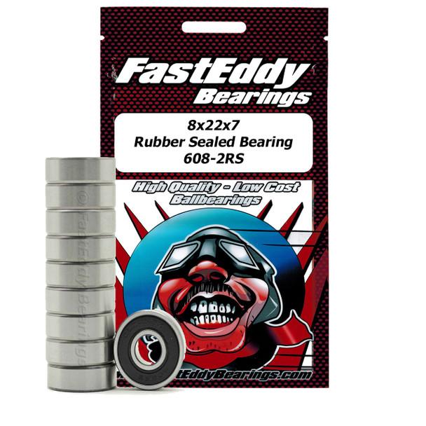 8x22x7 Gummi Sealed Bearing 608-2RS