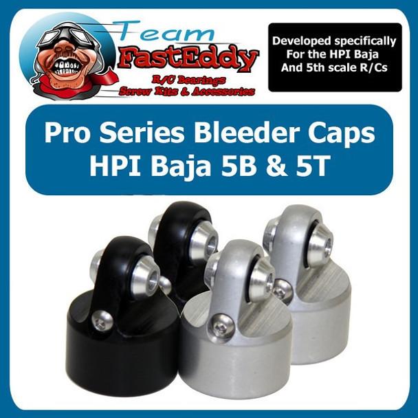 (2) Shock Bleeder Caps HPI Baja (Silver Only)