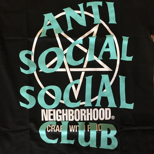 Anti Social Social Club x Neighborhood Tee Black Sz S