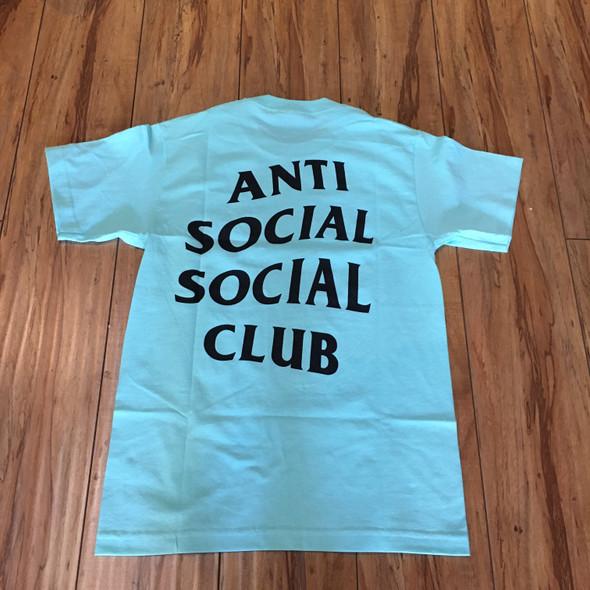 Anti Social Social Club Logo Tee Aqua Sz S