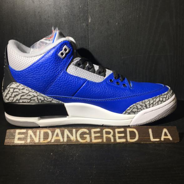 Air Jordan 3 Blue Cement Sz 9.5
