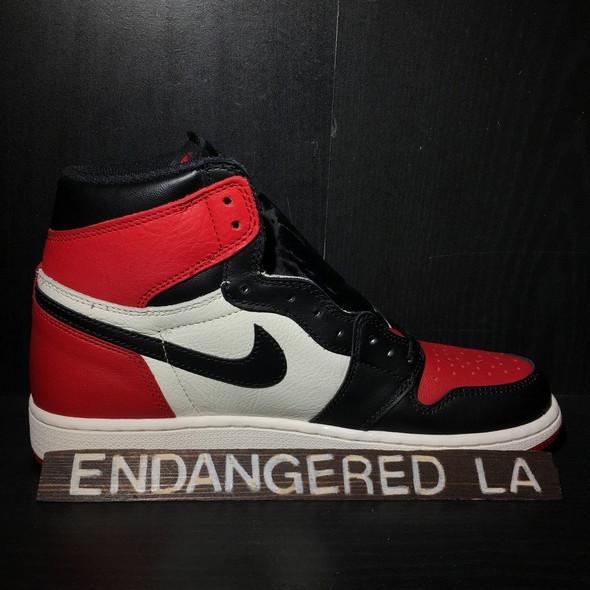 Air Jordan 1 Bred Toe Sz 6
