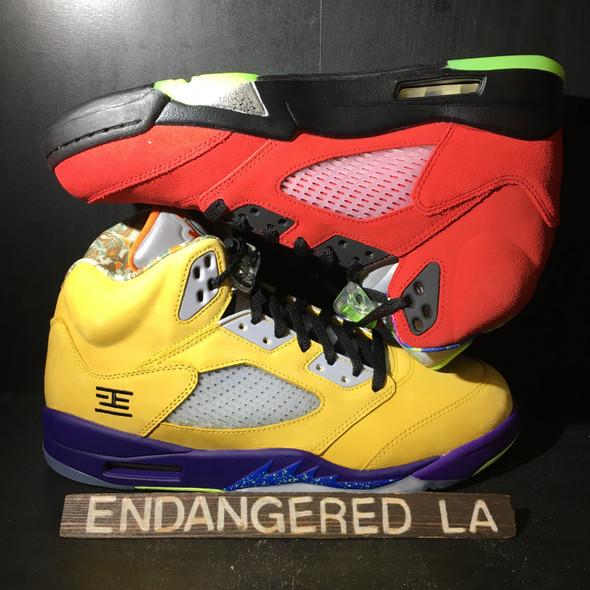 """Air Jordan 5 """"What The"""" Sz 10.5"""