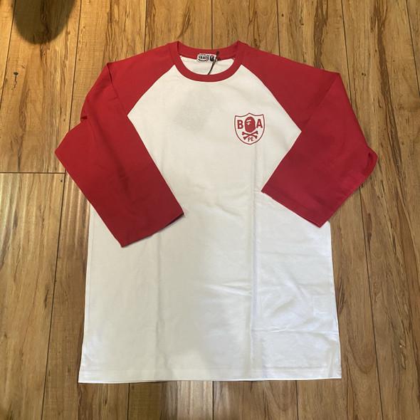 Bape Baseball Crossbone White Red Sz XL