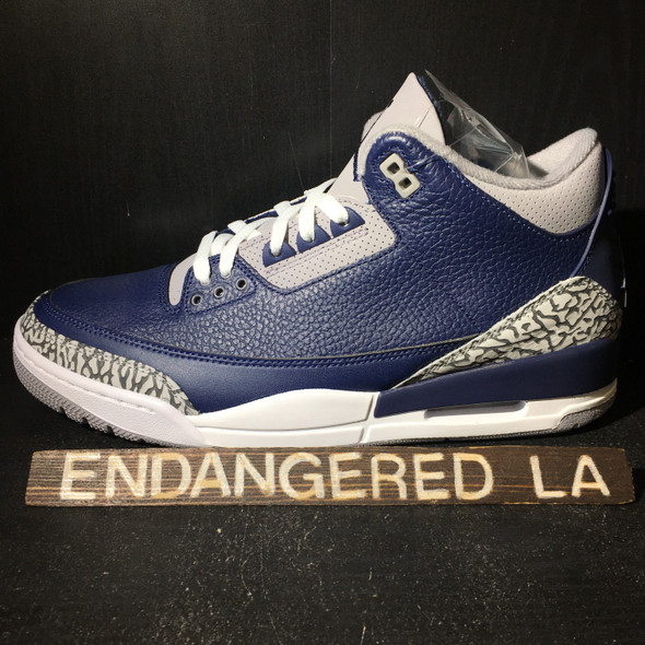Air Jordan 3 Georgetown Sz 7.5 (17985)