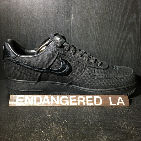 Nike Air Force 1 Low Stussy Black Sz 11