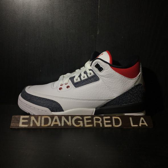 Air Jordan 3 Fire Red Denim Sz 6